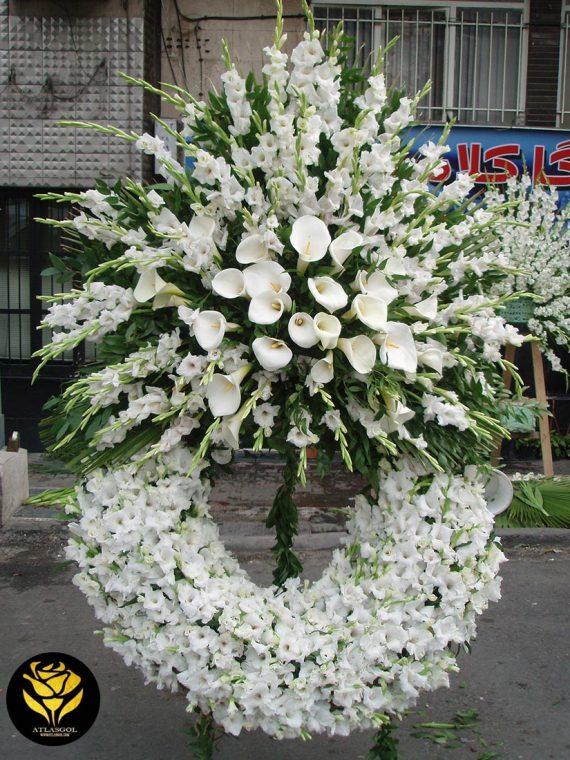 پایه تاج گل گرد