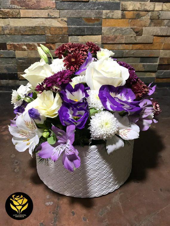 خرید باکس گل چرمی
