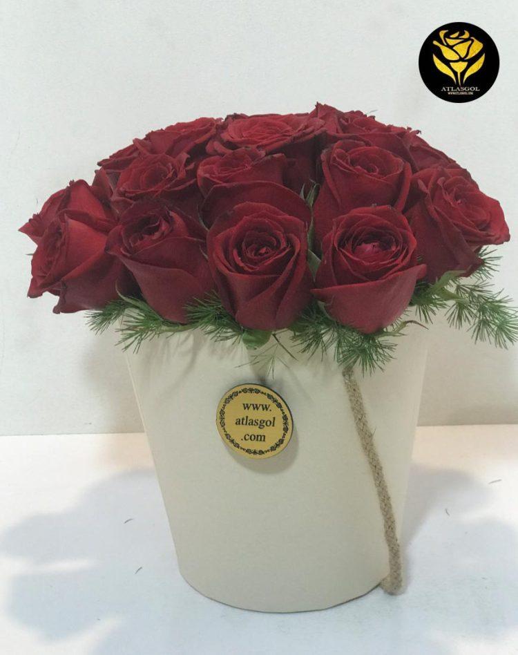 باکس گل گرد سطلی