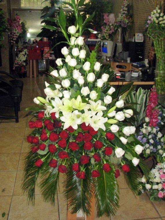 سبد گل پایه دار خاص کد 471