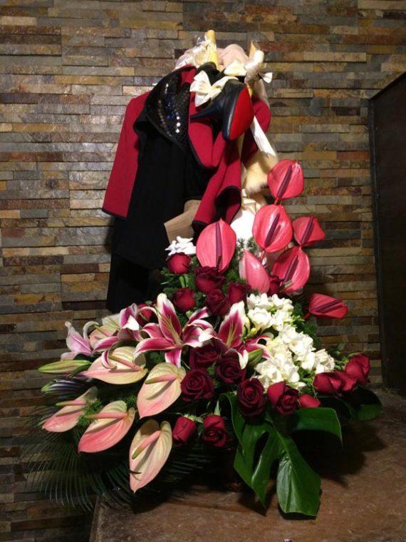 سبد گل یکطرفه نشان عروس کد 487