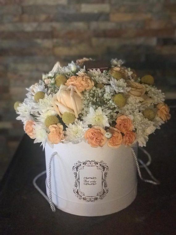 باکس گل گرد درب دار کد 457