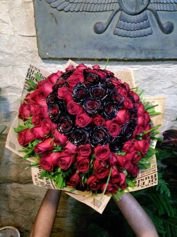 دسته گل گرد رز کد 533